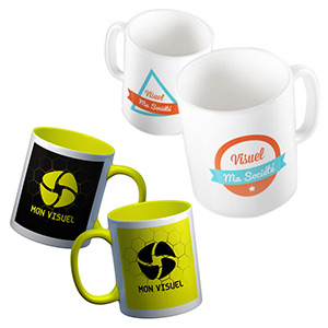 Voeux 2017 kit supports print mug recto verso personnalisé