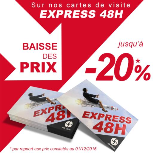 Baisse prix carte affaires express livraison en 48h