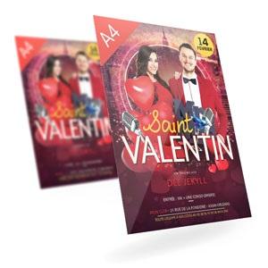 Flyer événement Saint Valentin