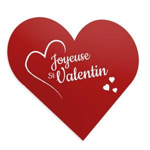 Flyer coeur personnalisé pour la Saint Valentin