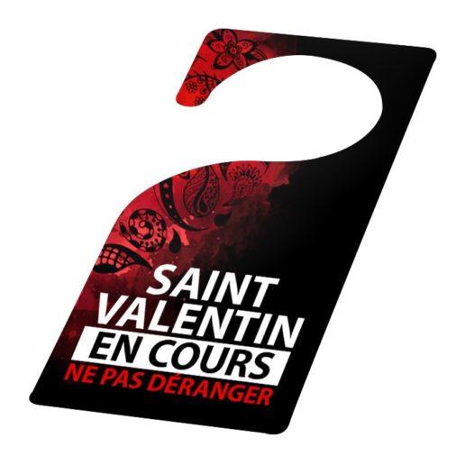 Flyer porte pour la Saint Valentin