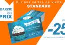 Profitez de -20% et -25% sur cartes de visite express 48h et standard