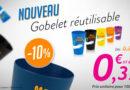 Gobelets réutilisables : Promo de -10% jusqu'au 28 février !