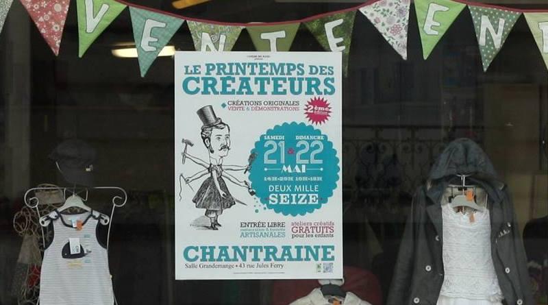 Affiche publicitaire pour vitrine de boutique