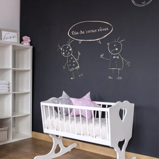 nouveau le sticker ardoise sur mesure pour tableau craie blog easyflyer. Black Bedroom Furniture Sets. Home Design Ideas