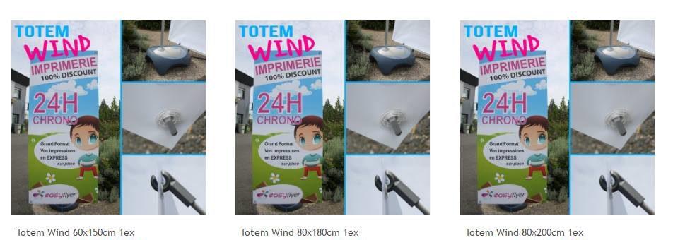 3 formats pour le Totem Extérieur Wind