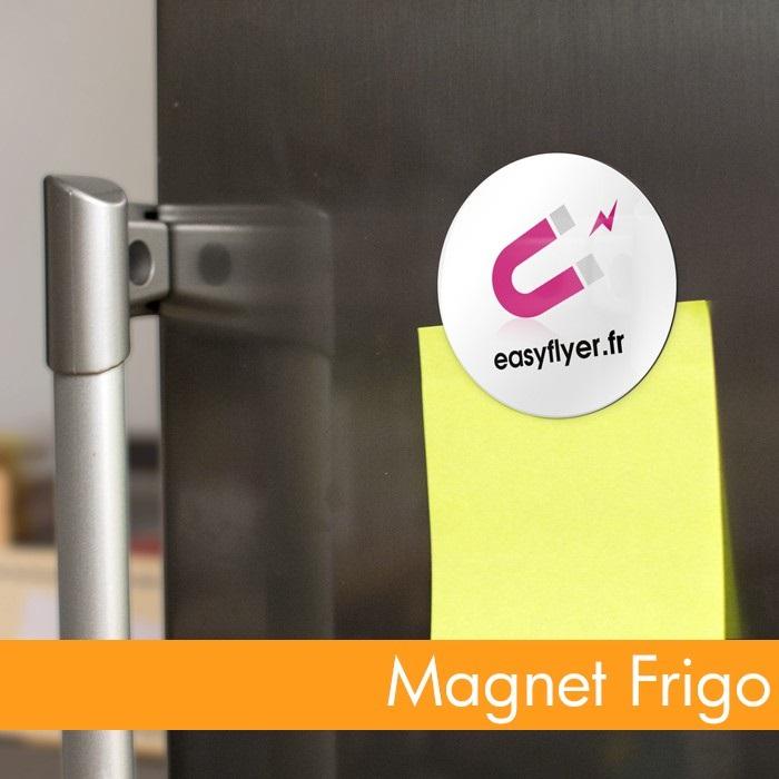 Magnet frigo personnalisé rond