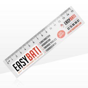 Règle flexible transparente personnalisée 15cm