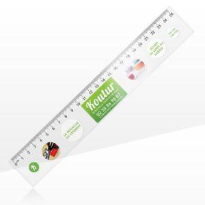 Règle flexible transparente personnalisée 25cm