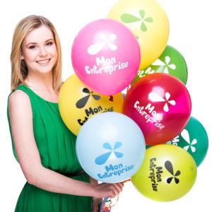 Ballon de baudruche pour l'inauguration d'une boutique