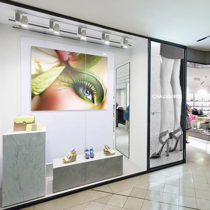 Impression de cadre textile tendu haut de gamme pour vitrine