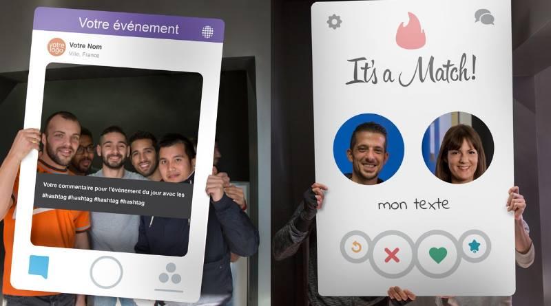 Nouveaux Photobooth Snapchat et Tinder
