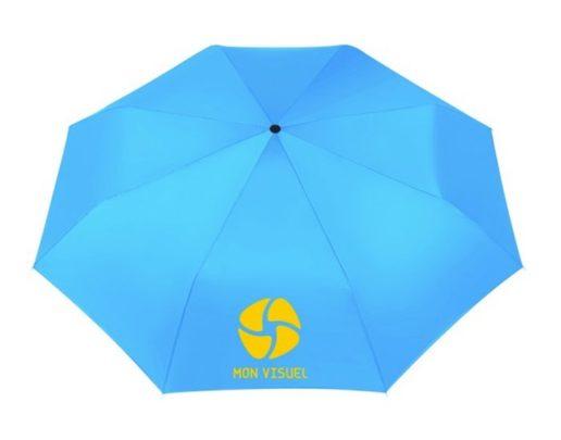 Parapluie promotionnel personnalisable bleu impression visuel logo