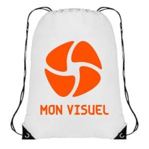 personnalisez sac dos ficelle blanc léger multifonctions