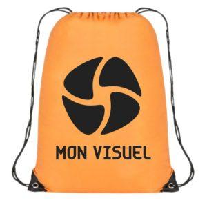 sac dos coulissant personnalisable orange pas cher