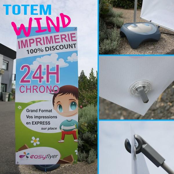 Totem publicitaire extérieur Wind pour communication outdoor