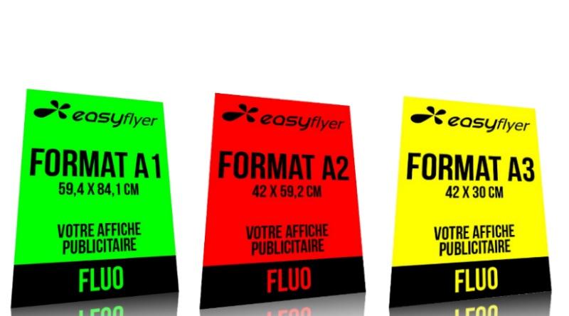 Affiches papier fluo