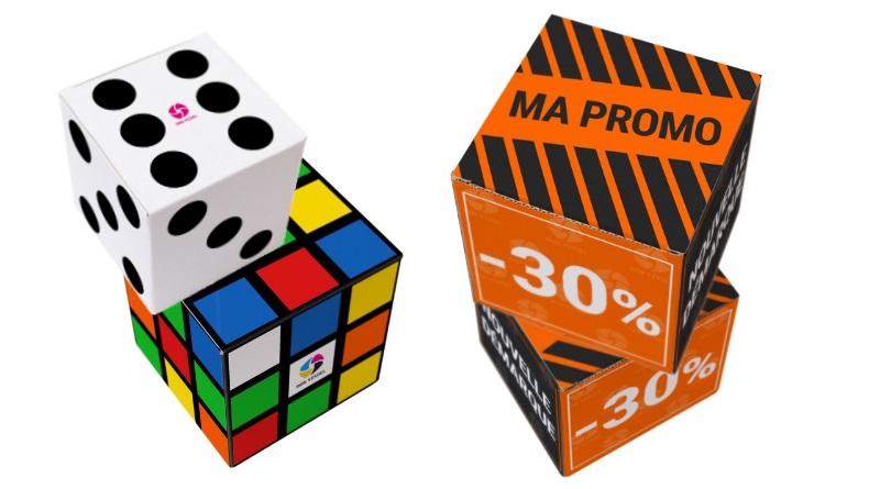 Cubes publicitaires carton personnalisés