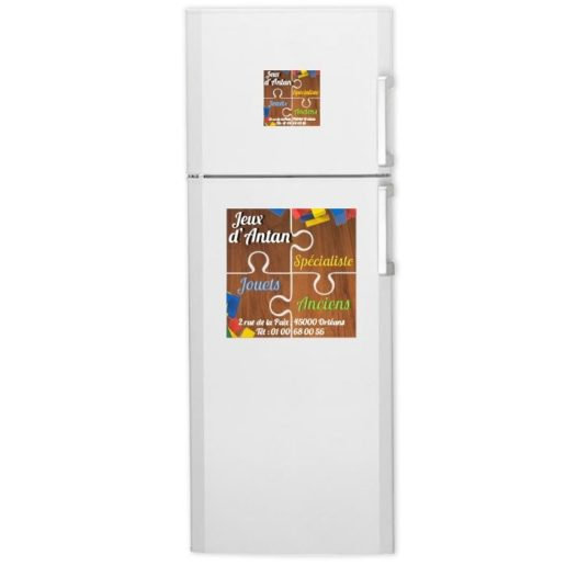Plaque aimantée puzzle frigo