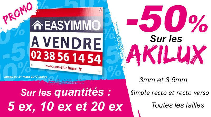 Promotion panneau akilux simple
