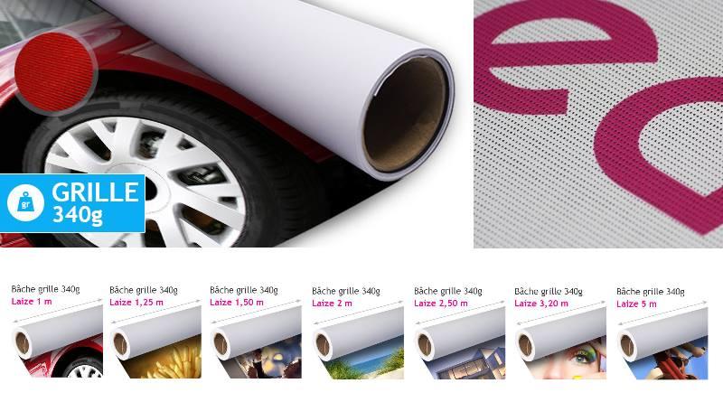 Bâche mesh : banderole micro-perforée idéale pour une PLV en extérieur