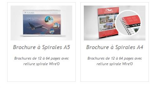brochures a spirale A5 A4