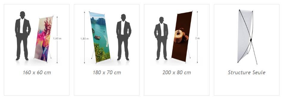 Différents modèles pour un x-banner personnalisé pour salon professionnel
