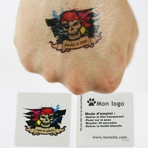 Impression tatouage éphémère personnalisable