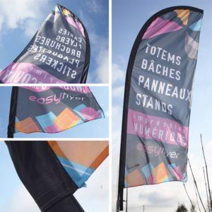 Promo drapeau voile publicitaire