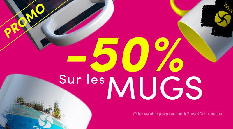 Promo -50% sur les Mugs Publicitaires Personnalisés jusqu'au 3 avril 2017