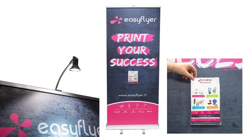 spot lumineux Porte-Documents Magnétique Transparent A5 accessoire rollup