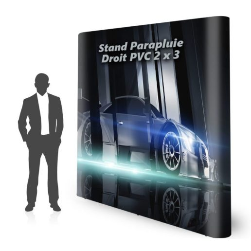 stand parapluie pvc personnalisé droit 2x3 M1