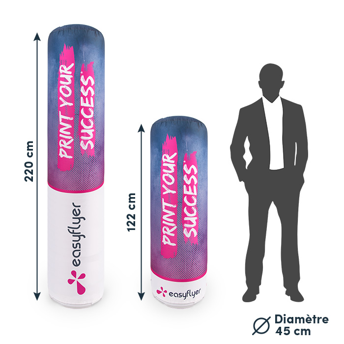 totem gonflable promotionnel impression personnalisable