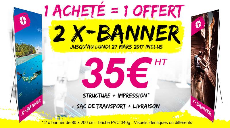 X banner promotion totem portable intérieur économique