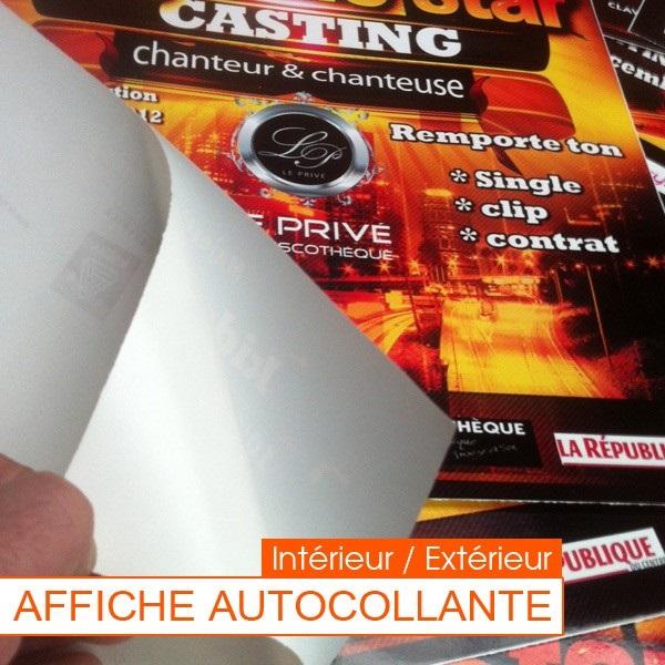 Affiche adhésive publicitaire discount