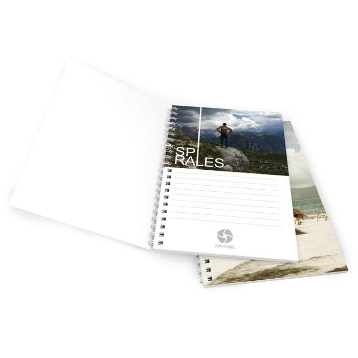 Brochure spirale ouvert fermé