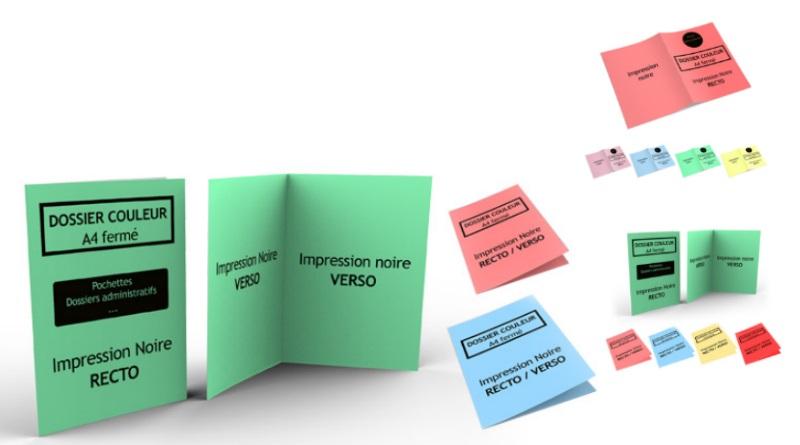 Dossiers administratifs en couleurs