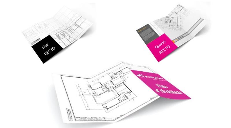 Impression plan architecte urbanisme