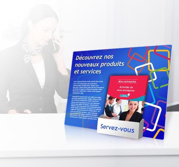 Présentoir carton personnalisable plv
