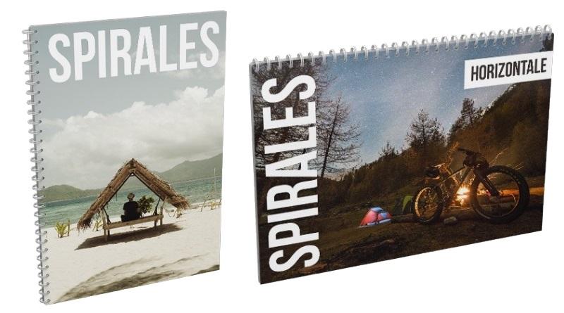 brochures à spirales personnalisées
