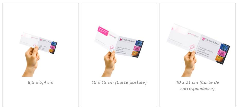 Carte De Visite Double Differents Formats