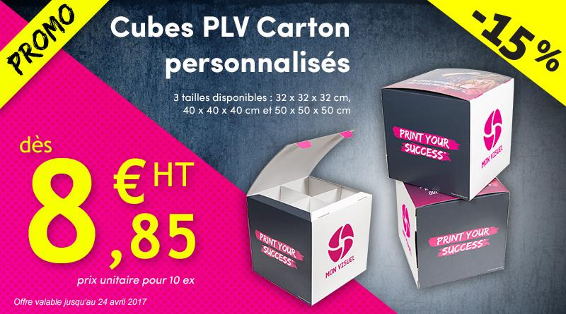 cube plv carton personnalisé promotion