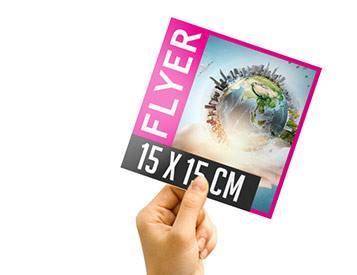 Flyer carré 15 x 15 cm format original, pratique et design