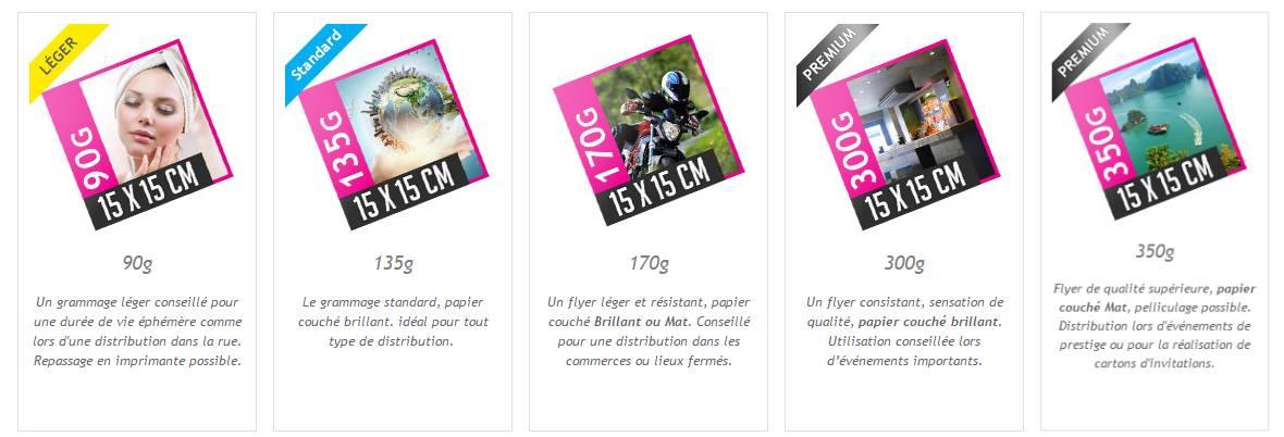 Flyer carré - différents grammages selon votre objectif de communication