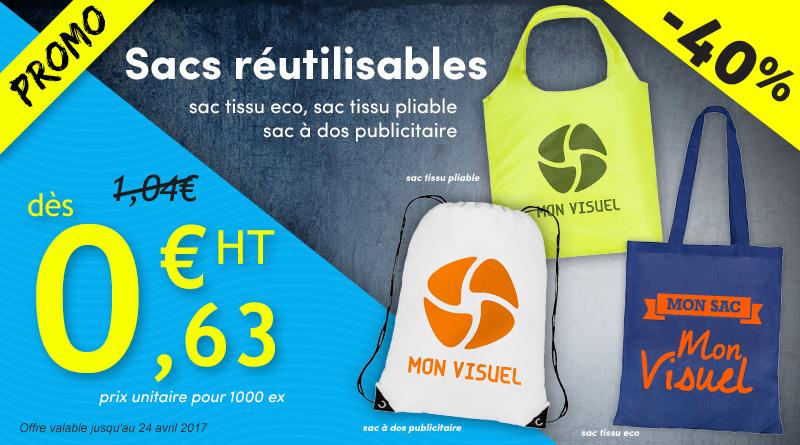 sac tissu éco pliable réutilisable sac a dos publicitaire personnalisation