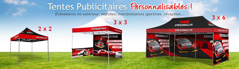 Tentes publicitaires personnalisables pour communcation extérieure