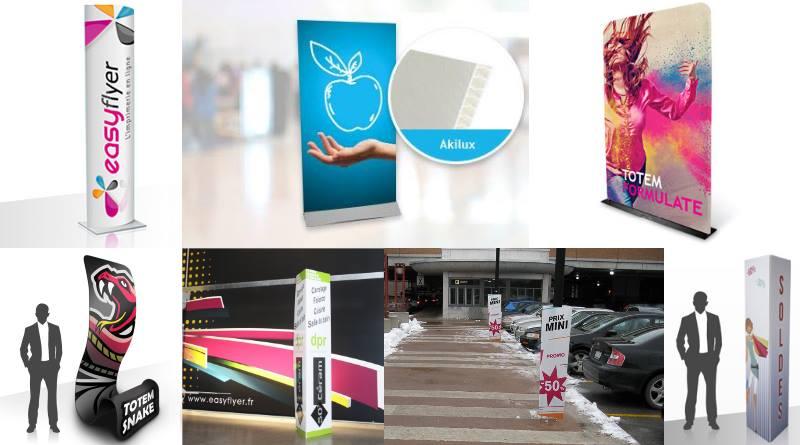 Totem publicitaire PLV attractive et innovante