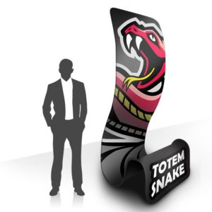 Totem Snake ultra original pour communication attractive