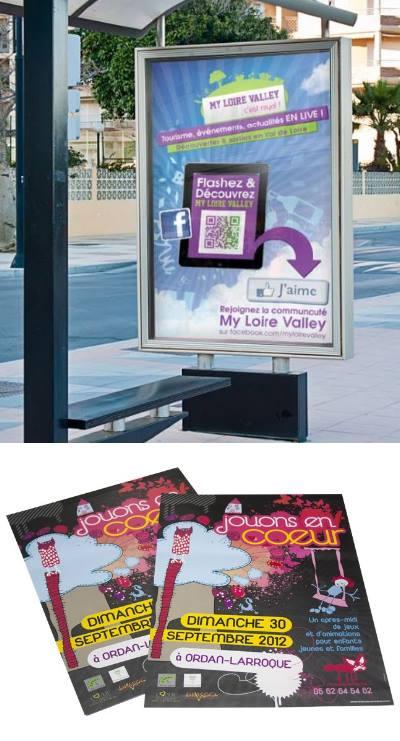 Affiches et flyers publicitaires pour communiquer sur fête de la musique
