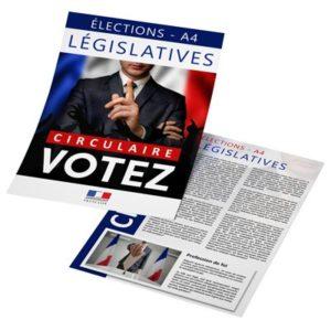 circulaire flyer électoral impression quadi recto verso